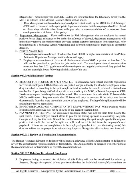 Page 132 Personnel Policy And Procedures Manual
