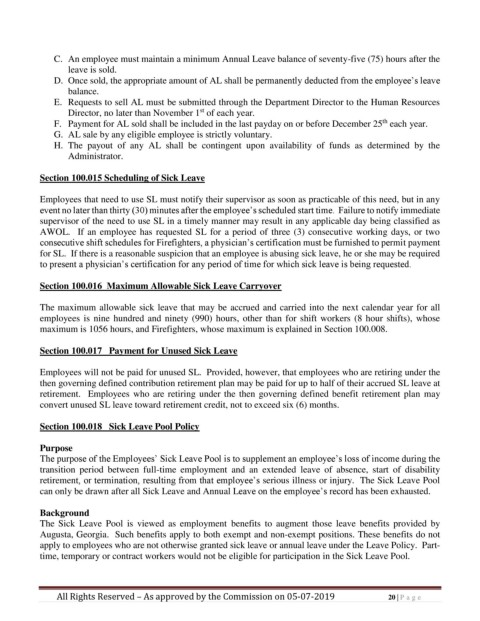 Page 20 - Personnel Policy and Procedures Manual